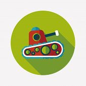 Tank Flat Icon With Long Shadow,eps10