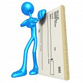 3D Character With Blank Check