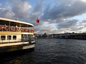 Old Turkish Steamship On The Golden Horn, Istanbul