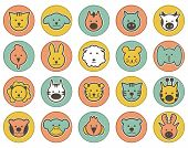 Animals icons .Vector illustration