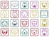 Animals colorful icons set .Vector illustration for easy editing.