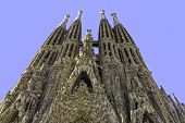 Sagrada Familia church in Barcelona Spain