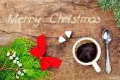 Cup Of Coffee With Christmas Decoration 8