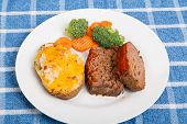 Meatloaf With Twice Baked Potato