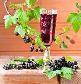 Black Currant Liquor And Ripe Berries