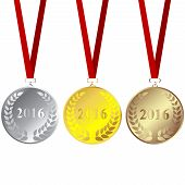 Set Of 2016 Medals