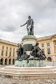 Statue Louis Xv At Place Royale In Reims