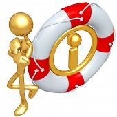 Gold Guy With Information Life Preserver