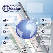 infographic with icons set for business design