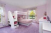 Girl's Room With Bunk Bed