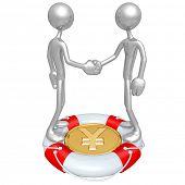 Handshake Lifebuoy Yen Concept