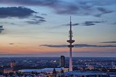 Tv-tower Of Hamburg On Sunset