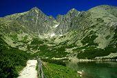 Skalnate pleso - tarn in High Tatras, Slovakia