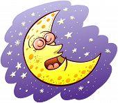 Beautiful moon sleeping