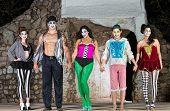 Group Of Cirque Clowns