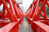 Metal Structure Of  Bridge Crane Construction In Construction Site