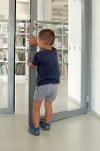Child Entering Library