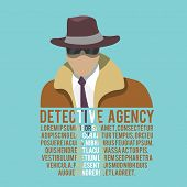Detective silhouette poster