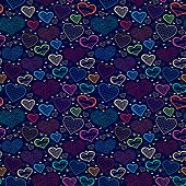 Abstract bright Love seamless background with heart