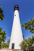 Famous Lighthouse At Cape Florida At Key Biscayne