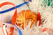 Christmas Gift With Orange Balls, Xmas Invitation Card