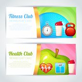 Fitness club card design