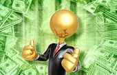 Gold Guy Businessman Success