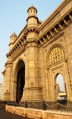 stock photo of british bombay  - The Gateway of India monument in downtown Mumbai  - JPG