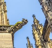 image of gargoyles  - ugly gargoyle sculpture at the dome in cologne - JPG