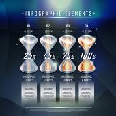 Modern Hourglass Infographic Elements Template