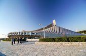 Tokyo, Japan - November 20, 2013: People Visit Yoyogi National Gymnasium