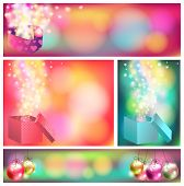 Colorful Celebration Ornament Banner Background, Create By Vector