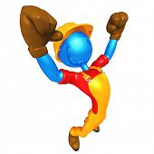 3D Construction Worker Character