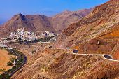 Road To Beach Teresitas In Tenerife - Canary Islands