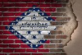 Dark Brick Wall With Plaster - Arkansas