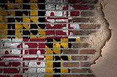 Dark Brick Wall With Plaster - Maryland