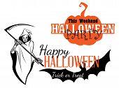 Happy Halloween party invitation