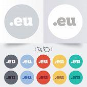 Domain EU sign icon. Top-level internet domain