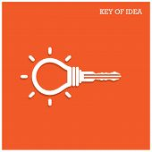 Creative Light Bulb Idea Concept With Padlock Symbol.Business Ideas.