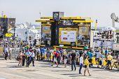 The Podium Of Le Tour De France