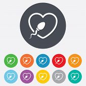 picture of insemination  - Sperm sign icon - JPG
