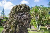 Stone Sculpture In The Temple Yard Close Up, Pura Taman Ayun