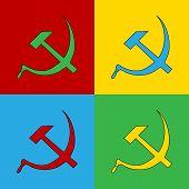 Pop Art Communist Symbol