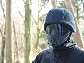 Military paintball player