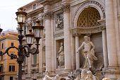 Lantern Near The Trevi Fountain In Rome, Italy