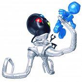 Mini Astronaut Attacked By Tripodian Alien