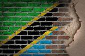 Dark Brick Wall With Plaster - Tanzania