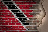 Dark Brick Wall With Plaster - Trinidad And Tobago
