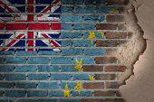 Dark Brick Wall With Plaster - Tuvalu