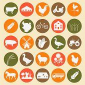 Set Agriculture, Animal Husbandry Icons